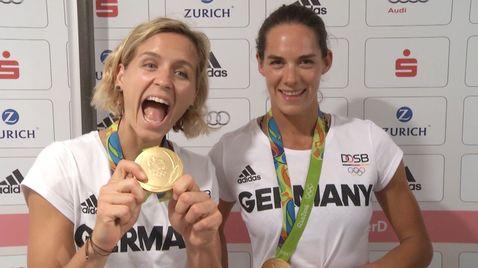 Unsere Gold-Beachvolleyballerinnen: Was Laura an Kira und Kira an Laura schätzt