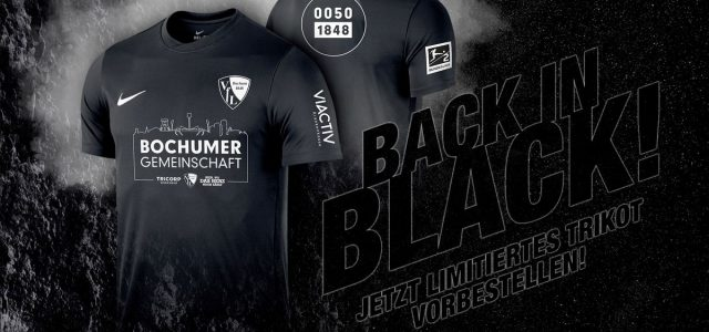 """Back in Black"": VfL-Sondertrikot in 1848er-Auflage"