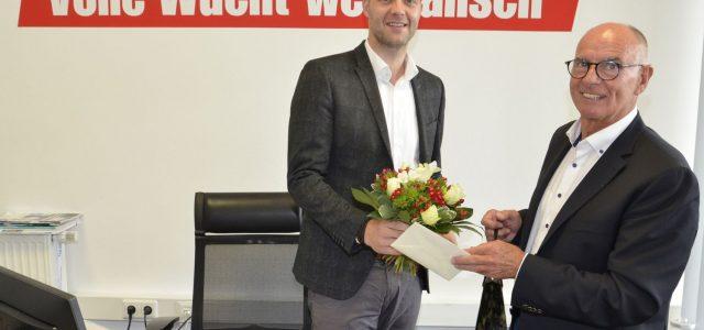 Erster Arbeitstag als Geschäftsführer des ASV Hamm Handball