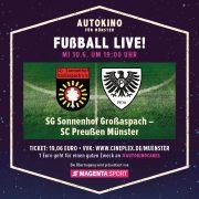 Preußen gegen Großaspach LIVE im Autokino Münster – Einspruch gegen Wertung des Bayernspiels